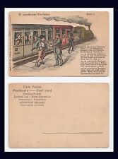 GERMANY FOLK SONG D'SCHWÄB'SCH EISE'BAHNE FARMER & GOAT ON THE TRAIN CIRCA 1905