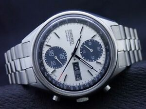 Vintage Seiko 6138-8020 Automatic Chronograph Watch PANDA