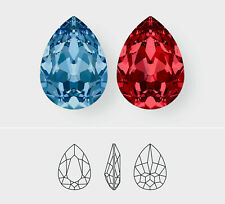 18mm x 13mm | Pear | Swarovski Article 4320 | 3 Pieces - Choose Crystal Color