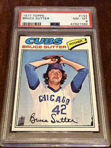 1977 Topps Bruce Sutter #144 PSA 8 NM-MT Chicago Cubs NICE!