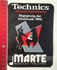 Aufkleber/Sticker: Technics - MARTE Musikstudio Orgelstudio 1990 (270316170)