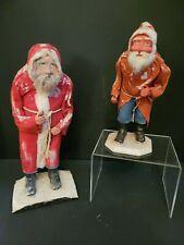 Antique German Santa Clauses (Set of 2)