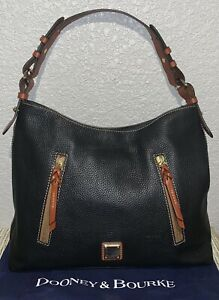 NEW AUTHENTIC DOONEY & BOURKE Cooper Leather Hobo Bag