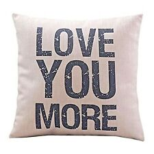"""NEW """"Love You More"""" Decorative Throw Pillow Case 18"""" x18"""""""