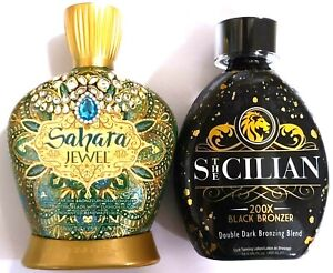 The Sicilian 200X Black Bronzer & Designer Skin Sahara Jewel Tanning Lotion