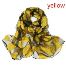 Women Retro Floral Silk Scarf Shawl Lady Long Scarves Wrap Sun Shade Scarfs
