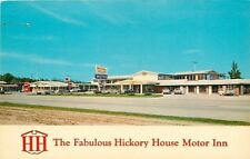 Poplar Bluff Missouri~Hickory House Motor Inn on Rt 60~1960s Postcard