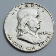 1952-D  Franklin Half Dollar US COIN 90% silver 50c , NO RESERVE!