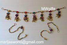 Window/Door Frame Decorative String Set with Wooden Beads, Elephants and bells