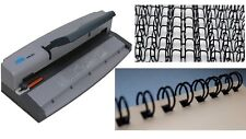 More details for wire binder book binding machine machine & closer with 100 black binding wires