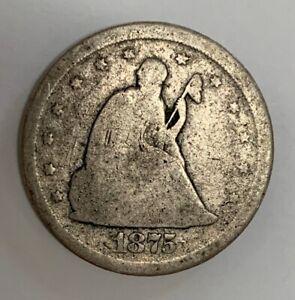 1875 Philadelphia 20 Cent Silver Coin Good Condition