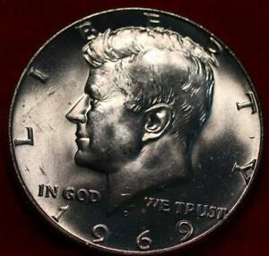 Uncirculated 1969-D Denver Mint Silver Kennedy Half
