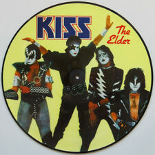 """KISS THE ELDER  HIGH QUALITY VINYL STICKER  100MM ROUND 4"""" MORE KISS  LISTED ..,"""
