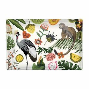 Michel Design Works Glass Trinket / Soap Dish Wild Lemon Flora Fauna