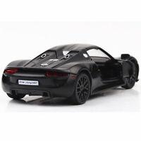 Porsche 918 Spyder 1/36 Model Car Diecast Gift Toy Vehicle Collection Kids Black