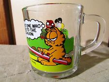 Garfield McDonald's Glass Mug Cup Odie Pooky Nermal Arlene Jim Davis USA