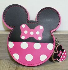 Minnie Mouse Disney Inspired Coin Purse Wallet With Keyring