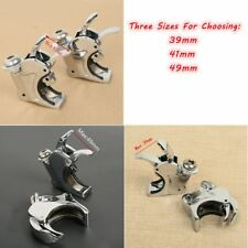 Chrome 39mm 41mm 49mm Quick Release Windshield Clamps For Harley Dyna Sportster