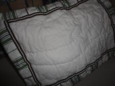Pottery Barn Kids Chase Green Blue Stripe (1Pc) Baby Pillow Sham Nursery 12 X 16