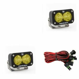 Baja Designs 547815 S2 Sport Pair Wide Cornering LED Amber