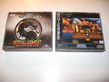 Bundle Mortal Kombat + Supreme Warrior Sega MegaCD PAL Mega CD RARE