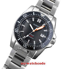 43mm Parnis white marke Sapphire glass 20atm automatic mens dive watch P473AU