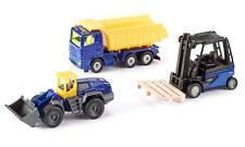 "SIKU 6305 Set Hard Work ""Limited Edition"" 3 Fahrzeuge blau/gelb NEU u. OVP"