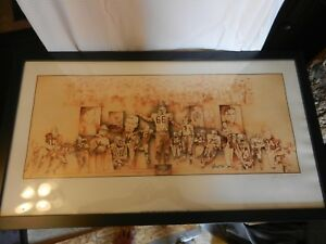 Green Bay Packers Hall Of Fame Players Ltd. Ed. Print James Hartel Framed Signed