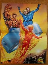 Wizard Comic Book Magazine 2 Sided Poster Fantastic Four + Gen 13 #21 1997