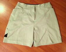 Bette & Court Golf Athletic Shorts Size 12 Light Green Polyester Water Resist