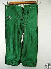 Youth Practice Game Football Pants Slotted Green Medium