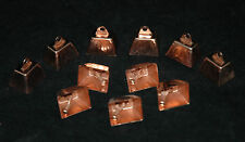 """10 COPPER COLORED 1"""" COW BELLS BIRD CAT TOY PARTS CRAFTS"""