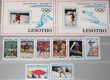 LESOTHO 1992 990-97 Block 92-93 917-926 Olympics Barcelona Albertville Sport MNH