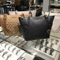 Michael Kors Medium Large Leather Shoulder Tote Handbag  Bag Purse Black Brown