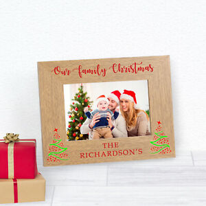 Personalised Our Family Christmas Wood Frame 6 x 4 Gift
