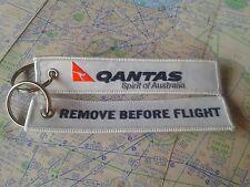 Qantas airline remove before flight keyring keychain australia