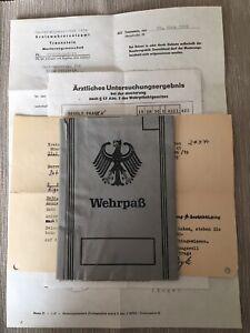 Frühe Bundeswehr Wehrpass und Dokumente 1969
