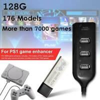 128G PS1 MINI True Blue Mini Crackhead Pack For Playstation Built-in 7000 Games.