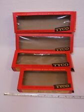 Lot of 4 Tyco Red Box Vintage Model Trains Empty Boxes some wear and damage