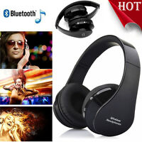 Noise Cancelling Wireless Bluetooth Stereo Headphone Headset w/Call Mic 3.5mm US