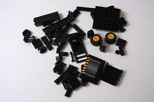 Black lego bricks parts