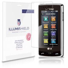 iLLumiShield Phone Screen Protector w Anti-Bubble/Print 3x for LG Versa VX9600