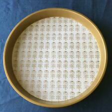 Marimekko Gold Color Tin Plate Tray Maija Isola Vintage Collectible Rare F/S