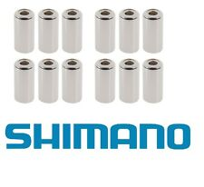 12 x Shimano SIS-SP50 Steel/ Metal Outer End Caps 6mm (for Brakes) - Ferrule