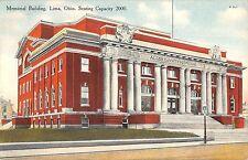 Ohio postcard Lima Memorial Building ca 1910