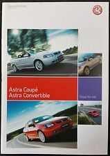 Vauxhall Astra Coupé & Convertible 2004 Models 31 Page Brochure