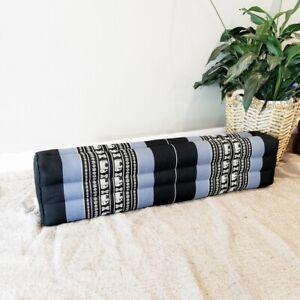 80cm Long Bolster Pillow Yoga Block cushion Meditation Natural Kapok Filling