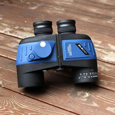 Military 7x50 Waterproof Floating Binocular w/ Internal Rangefinder&Compass Blue