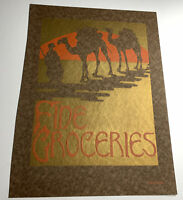Middle East Camels Grocery Original Cover Design Graphic Art Poster Sign 1923