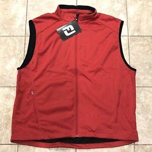 NWT Footjoy Full-Zip Lightweight DJ Softshell Golf Vest - Red - 2XL XXL - 32723